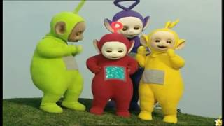 Arabic Teletubbies drawing using hands and legs تليتبيز الرسم بالايدي والاقدام