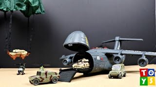Micro Soldiers Military Airplane Tanks Soldiers Helicopter Playset Toy Video for KIDS Boys