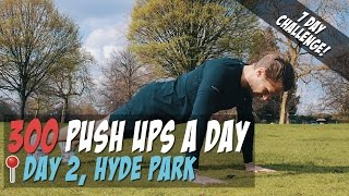 [Day2] 300 Push Ups a Day for 7 Days - [Men's Health 300 Pushups Challenge 2017] See What Happens?