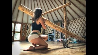 Living Off Grid in a Yurt | Building a Loft, pt. 2 -  Ep.41