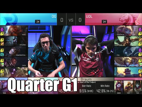 Origen vs Unicorns of Love | Game 1 Quarter Finals S6 EU LCS Spring 2016 Playoffs | OG vs UOL G1