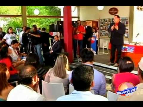 Chavez talks about the election and peace in Colombia