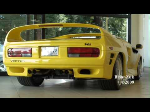 Brian records an extremely rare Vector M12, one of only 14 ever made, at an exotic car dealership. This one is yellow and is selling for $199000. BrianZuk's...
