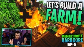 HARDCORE MINECRAFT! Let's Build a Farm! Ep.5