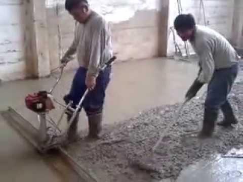 Alisados de pisos de concreto youtube - Como hacer brillar el piso de cemento ...