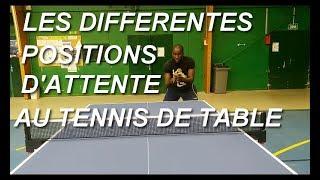 Quel Position D'attente Au Tennis De Table?