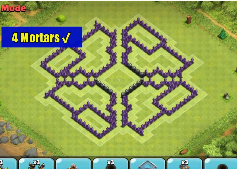 Clash of clans best town hall level 8 farming base the hole 4