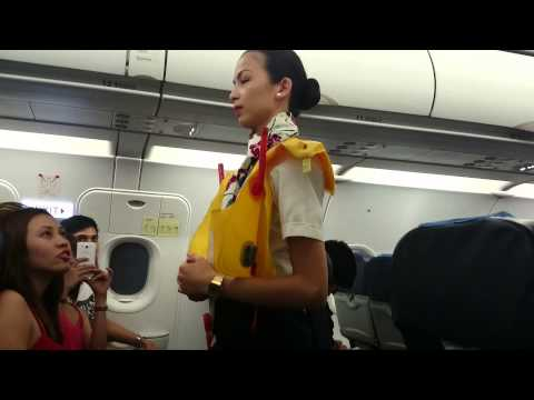 Philippine Airlines safety demonstration