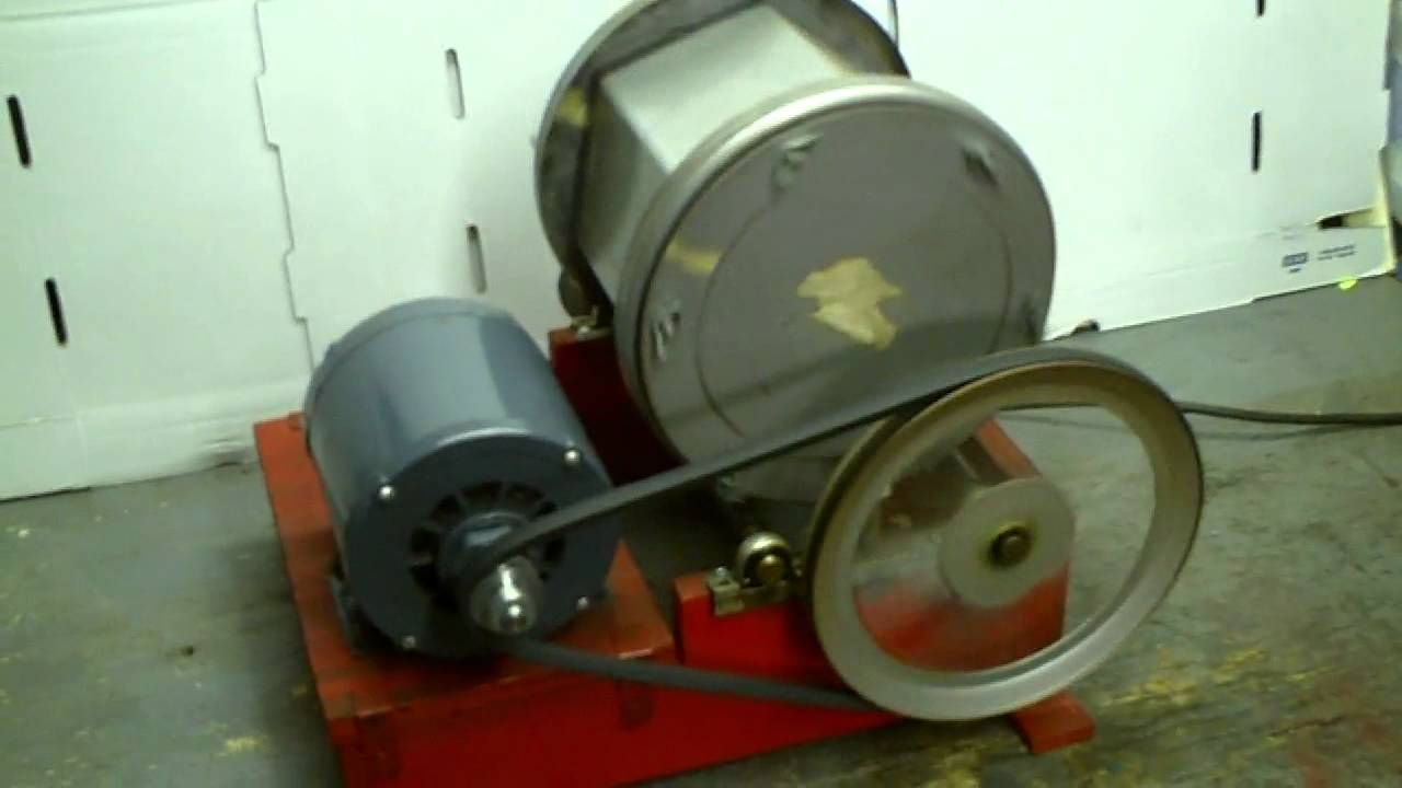 Lortone rock tumbler youtube for Diy rock tumbler motor