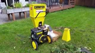 Champion 3 inch Wood Chipper Shredder Review