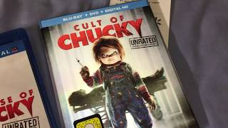 Cult of Chucky Blu-Ray Unboxing & Chucky Collection