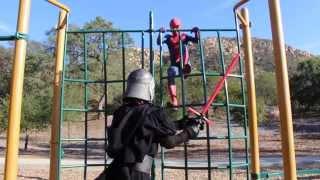 Amazing Spiderman vs Kylo Ren Rematch Real Life @Andrawiz