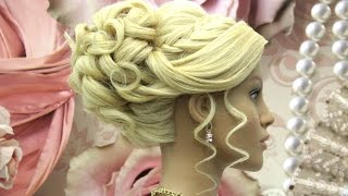 Wedding hairstyle for long hair. Prom updo tutorial