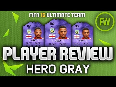 PURPLE HERO ANDRE GRAY (80) *PACEY* PLAYER REVIEW (FIFA 16 ULTIMATE TEAM)