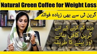 Green Coffee for Weight loss by Dr. Umme Raheel