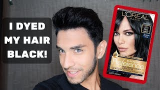 Black Hair Dye - Brown Hair Color to Black (VLOG)