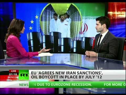 Why does the EU join in sanctions against Iran?