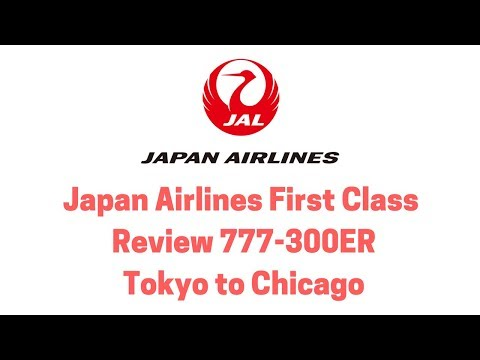 Japan Airlines First Class Review 777-300ER Tokyo to Chicago