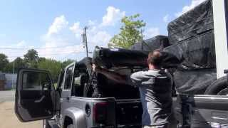 Jeep Wrangler Hard to Soft Top How To 2011 2012 2013 2014 2015