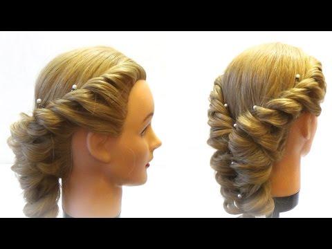 Прическа с плетением на средние волосы Braiding for medium hair