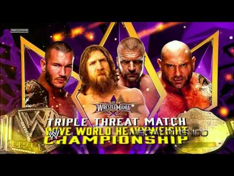 Wwe Wrestlemania 30 (xxx) Official And Complete (full) Match Card - Hd video