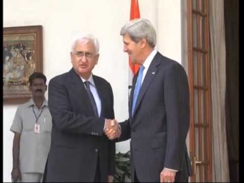 24 june, 2013 - John Kerry meets India's foreign minister for Indo-US strategic dialogue