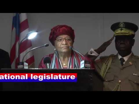 PRES. ELLEN JOHNSON SIRLEAF FINAL STATE OF THE NATION ADDRESS JANUARY 23, 2017