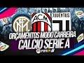 ORÇAMENTOS MODO CARREIRA FIFA 19 - LIGA ITALIANA