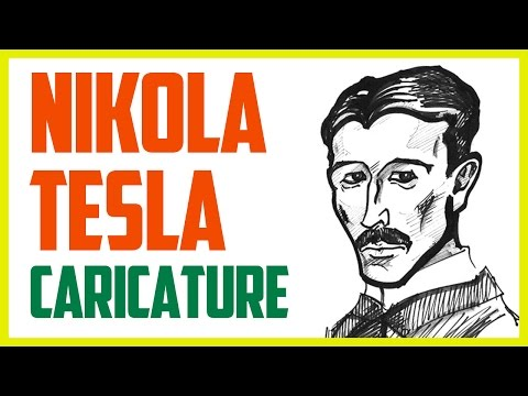 NIKOLA TESLA CARICATURE | Speed drawing a caricature of Tesla