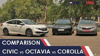 Comparison: Honda Civic vs Skoda Octavia vs Toyota Corolla | NDTV carandbike