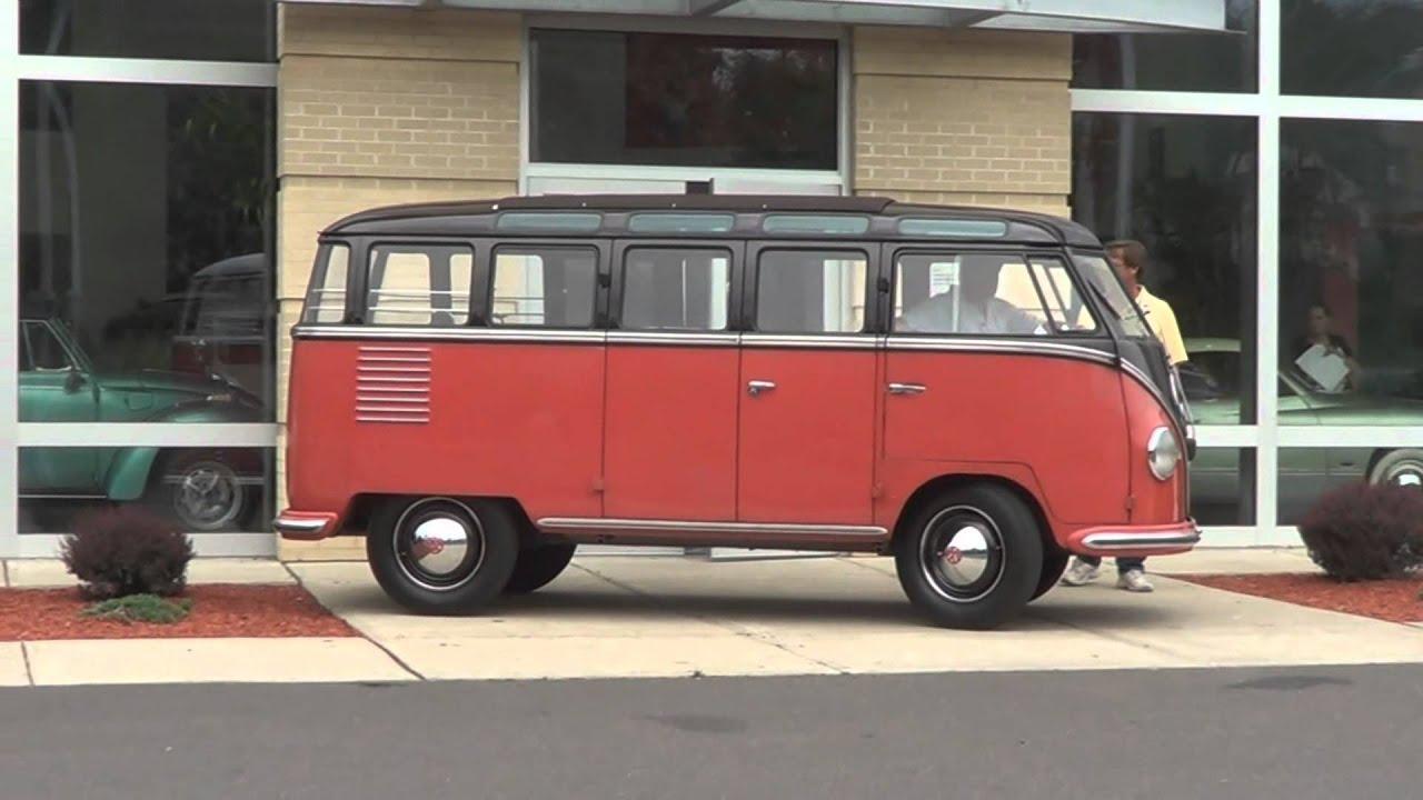 1954 23 window bus arrives at gene langan volkswagen for 14 window vw bus