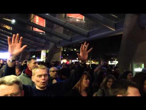 Queen fans leaving O2 arena
