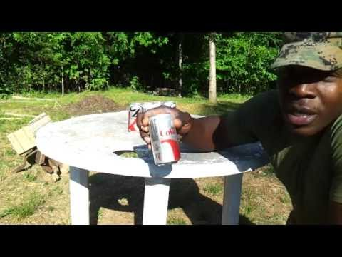 Ignite Black Ops Tactical Sniper Pellet Rifle Coke Can Penetration Test @ 33 yrds!