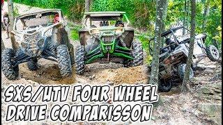 SXS/UTV - Four Wheel Drive System Comparison - Can-Am vs Polaris vs Arctic Cat 4WD/4X4/AWD/Visco-Lok