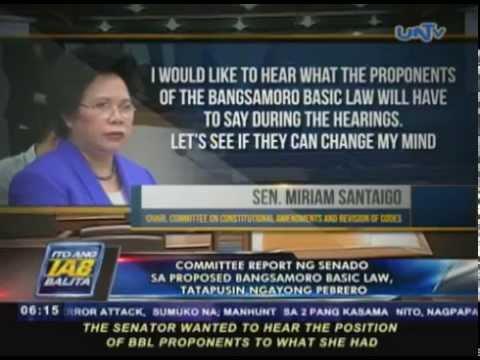 Committee report ng Senado sa Proposed Bangsamoro Basic Law, tatapusin ngayong Pebrero