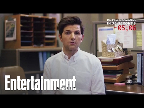 Adam Scott explains 'Parks and Rec' in 30 seconds