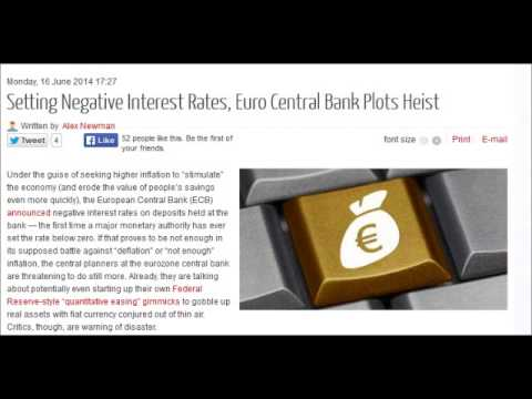 Setting Negative Interest Rates, Euro Central Bank Plots Heist