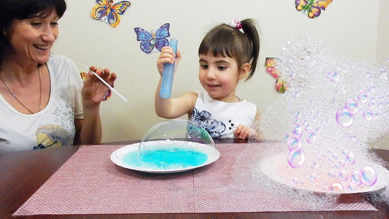 Опыты с мыльными пузырями в домашних условиях