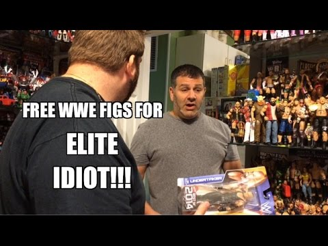 Grims Toy Show Ep 1020: FREE WWE Figures for ELITE IDIOT! Mattel Wrestling Toys Collections