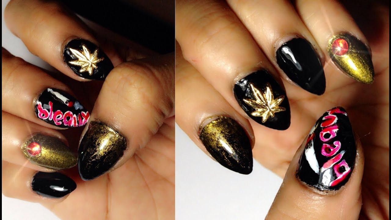 Ganja Inspired Nail Art