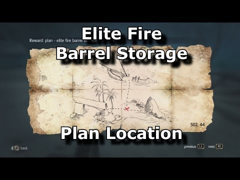 Assassins Creed 4 Black Flag Elite Fire Barrel Storage Plan Location