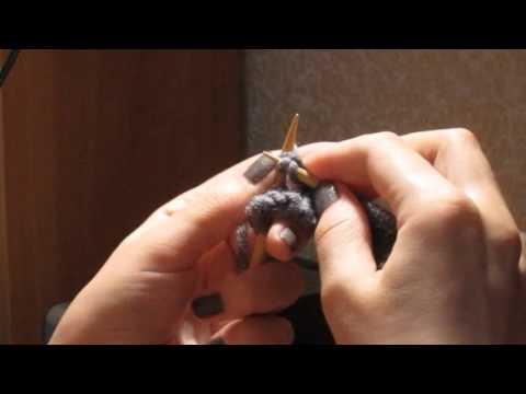 33. Лицевая дорожка из двух накидов на изнаночной глади