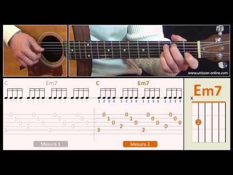 Jouer Je L'aime à Mourir (Francis Cabrel) - Cours Guitare. Tuto + Tab