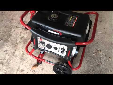 Powermate Generator Unbox First Start WALMART