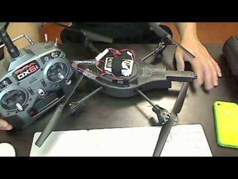 Parrot AR.Drone RC mod with Spektrum DX6i transmitter 2.4ghz