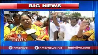 గోపిపై కఠిన చర్యలకు నేతల డిమాండ్ ..! Congress Leader Protest Against TRS MP Gopi Incident | hmtv