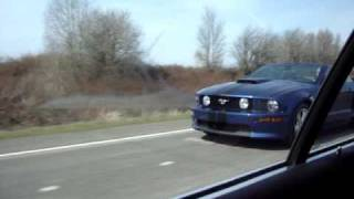 BMW e39 M5 vs Mustang GT Supercharged Race 1