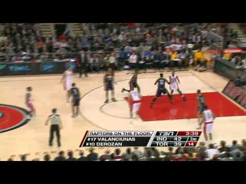 Kyle Lowry to Demar Derozan Alley-oop Raptors-Pacers 10-31-12