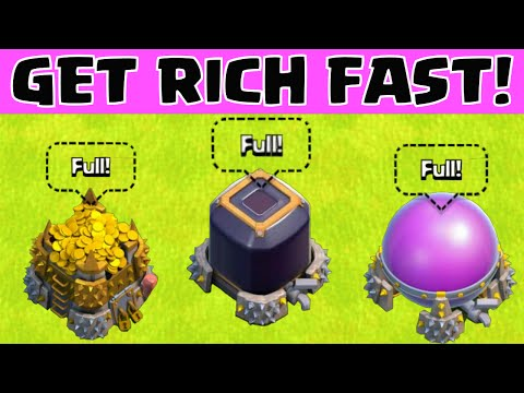 Clash of Clans HOW TO GET RICH QUICK / FAST LOOT | BEST FARMING STRATEGY AFTER THE UPDATE