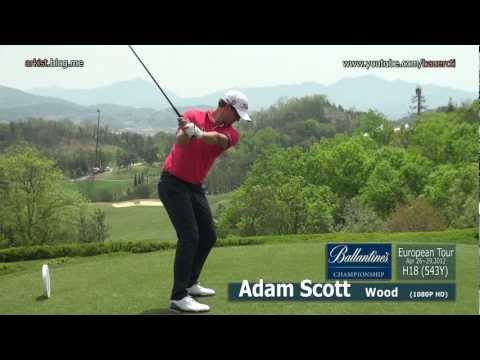 [1080p HD] Adam Scott 2012 Wood with Practice Golf Swing (1)_European Tour